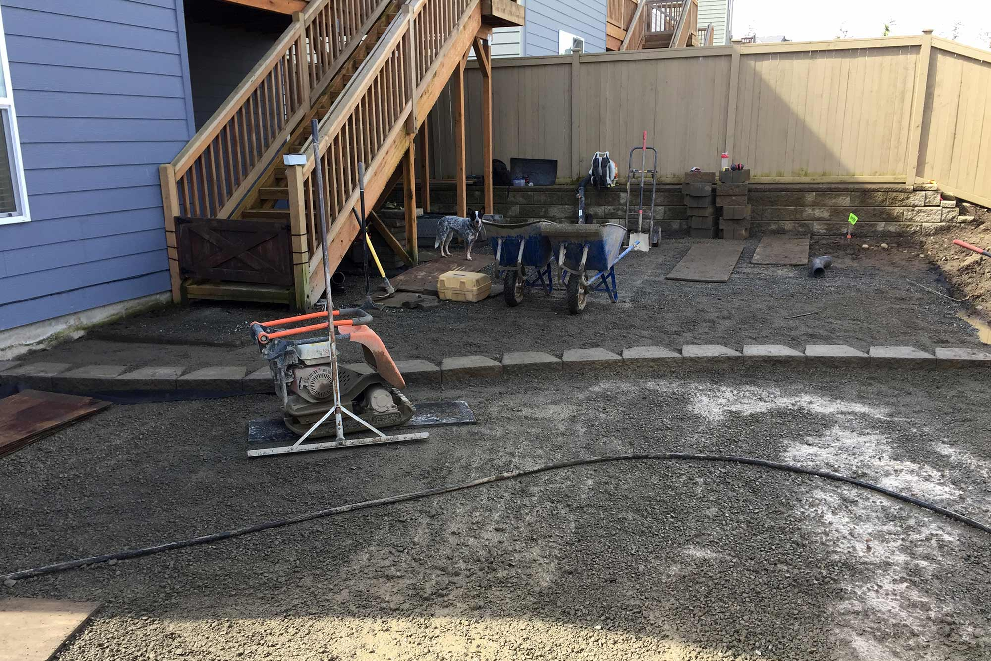 paver patio construction