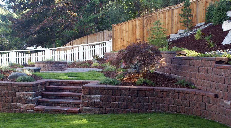 Split-Level Retaining Wall